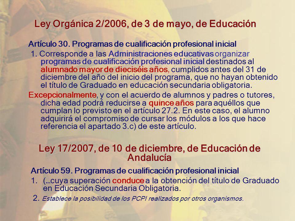 Ley Orgánica 2/2006, de 3 de mayo, de Educación