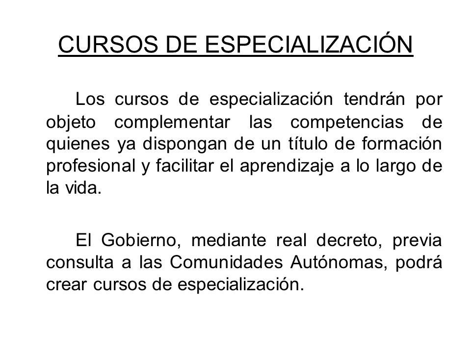 CURSOS DE ESPECIALIZACIÓN