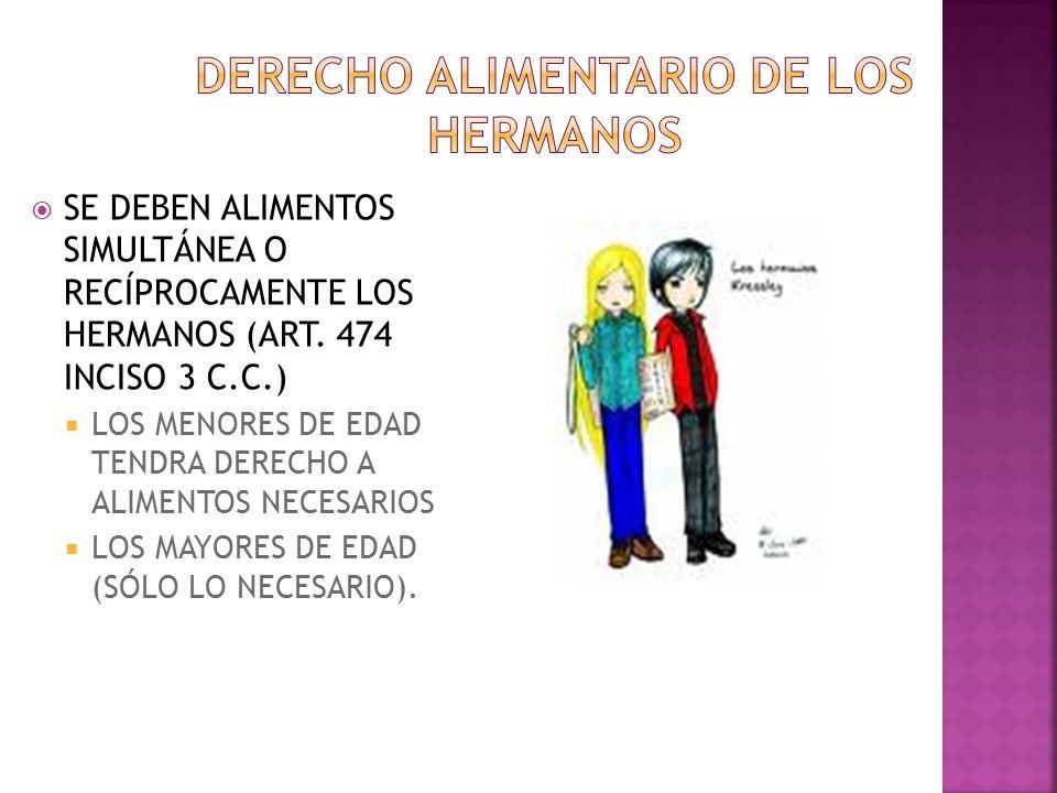 DERECHO ALIMENTARIO DE LOS HERMANOS