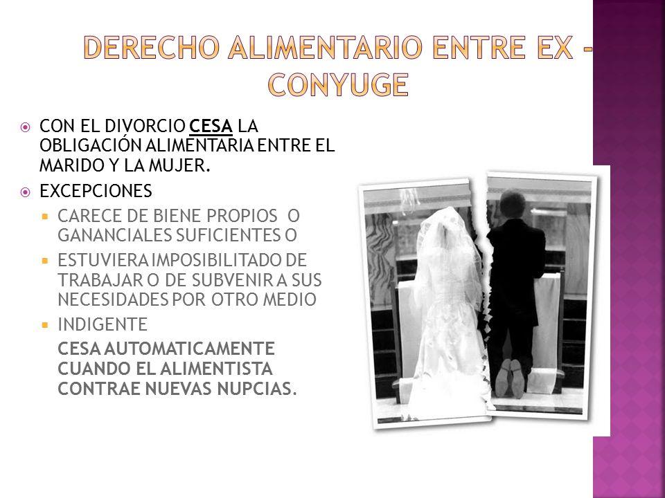 DERECHO ALIMENTARIO ENTRE EX -CONYUGE