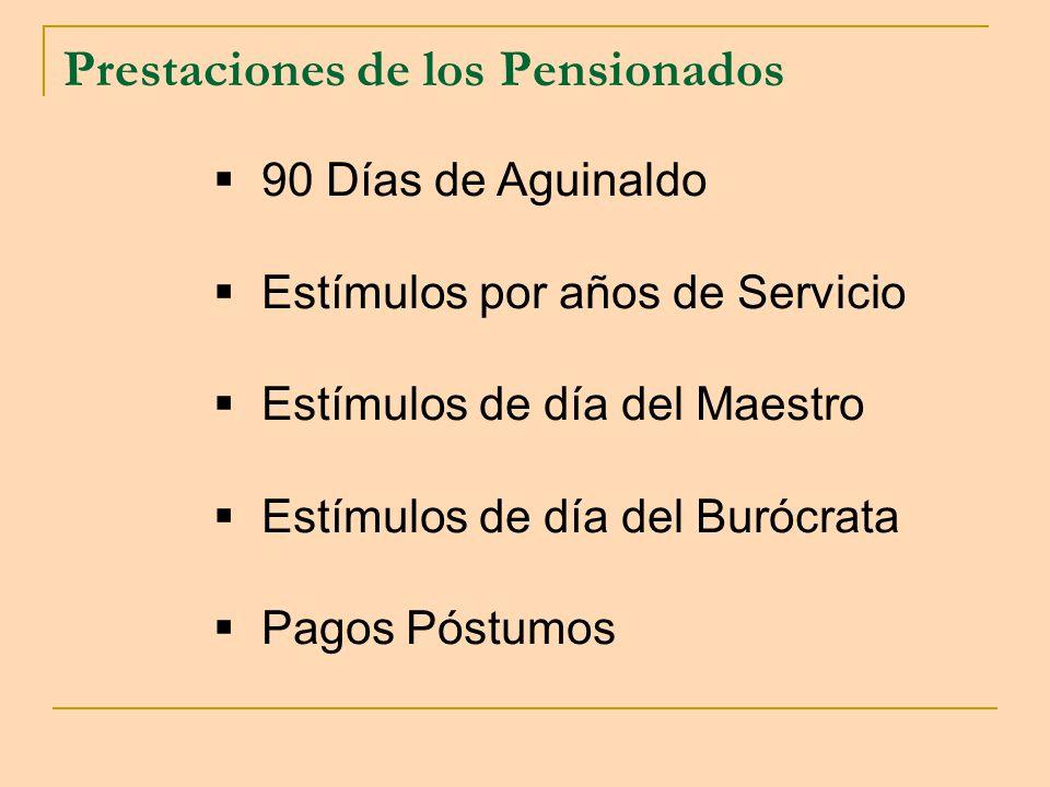 Prestaciones de los Pensionados