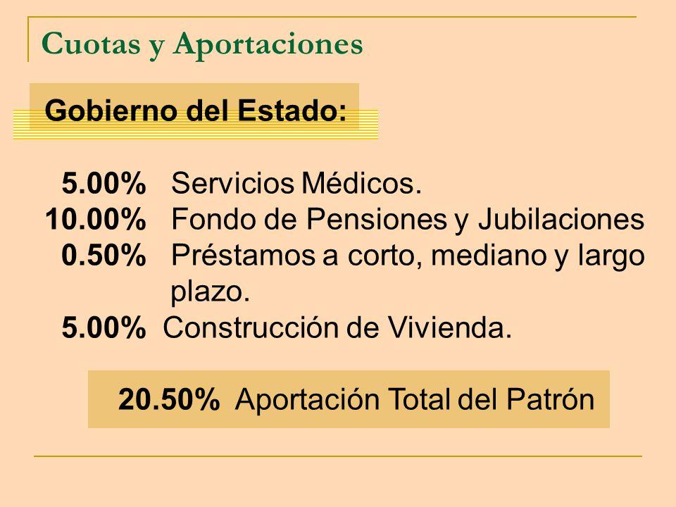 20.50% Aportación Total del Patrón