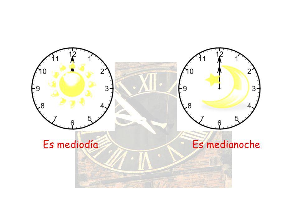 Es mediodía Es medianoche