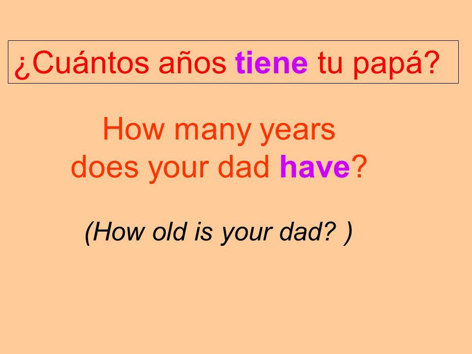 ¿Cuántos años tiene tu papá