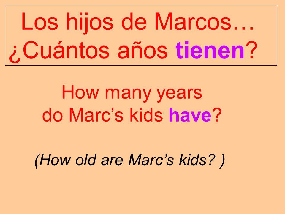 Los hijos de Marcos… ¿Cuántos años tienen How many years