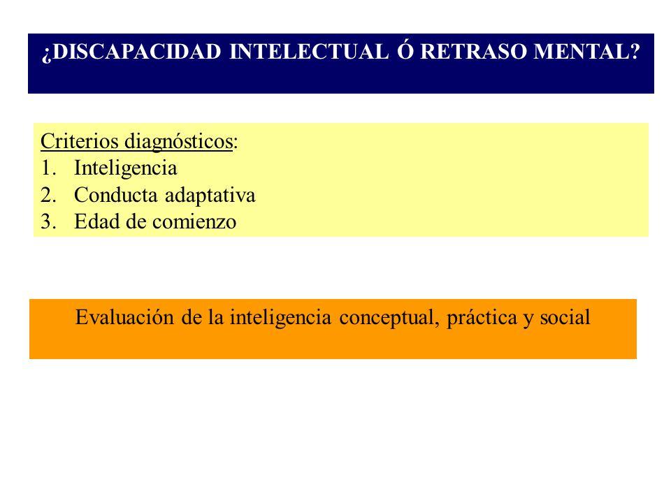 ¿DISCAPACIDAD INTELECTUAL Ó RETRASO MENTAL