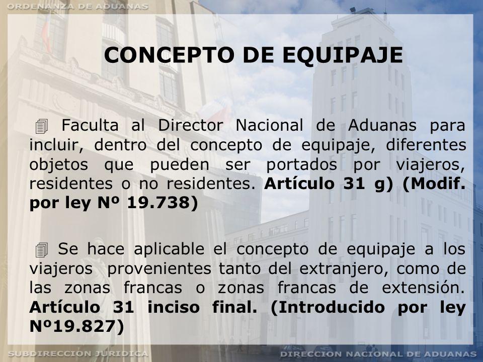 CONCEPTO DE EQUIPAJE