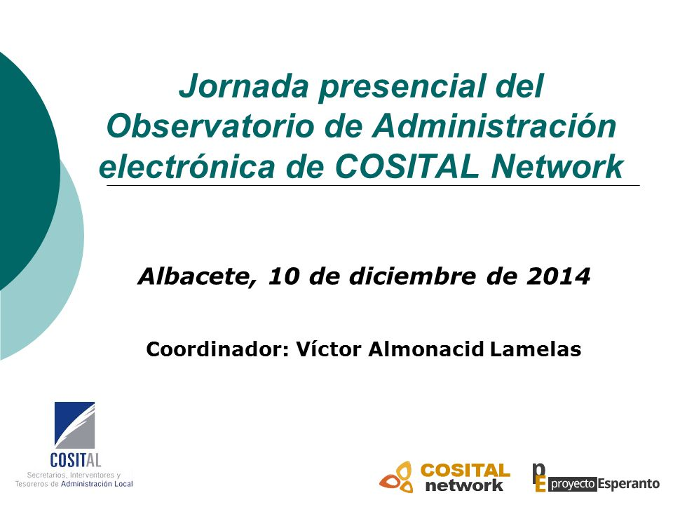 Jornada presencial del Observatorio de Administración electrónica de COSITAL Network