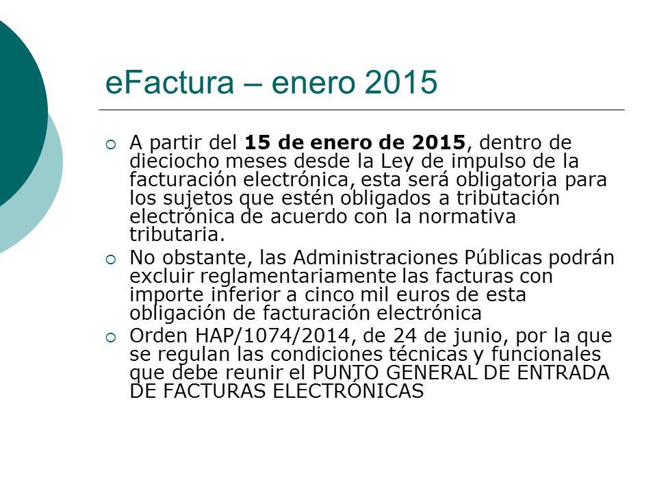 eFactura – enero 2015