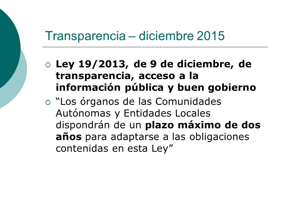 Transparencia – diciembre 2015