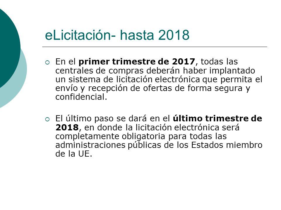 eLicitación- hasta 2018