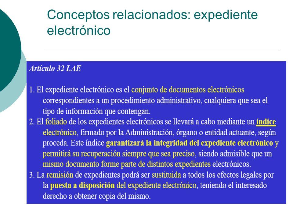 Conceptos relacionados: expediente electrónico