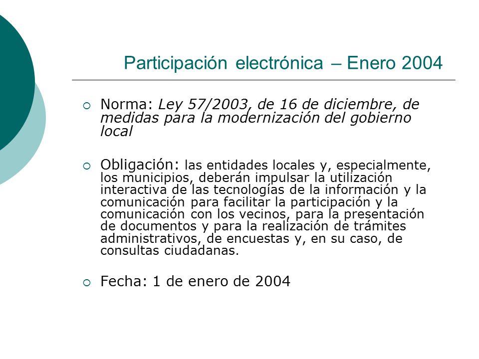 Participación electrónica – Enero 2004