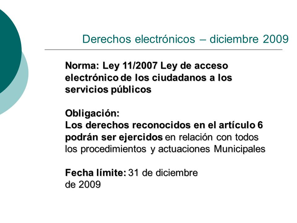 Derechos electrónicos – diciembre 2009