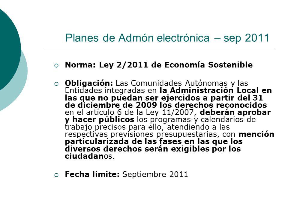 Planes de Admón electrónica – sep 2011