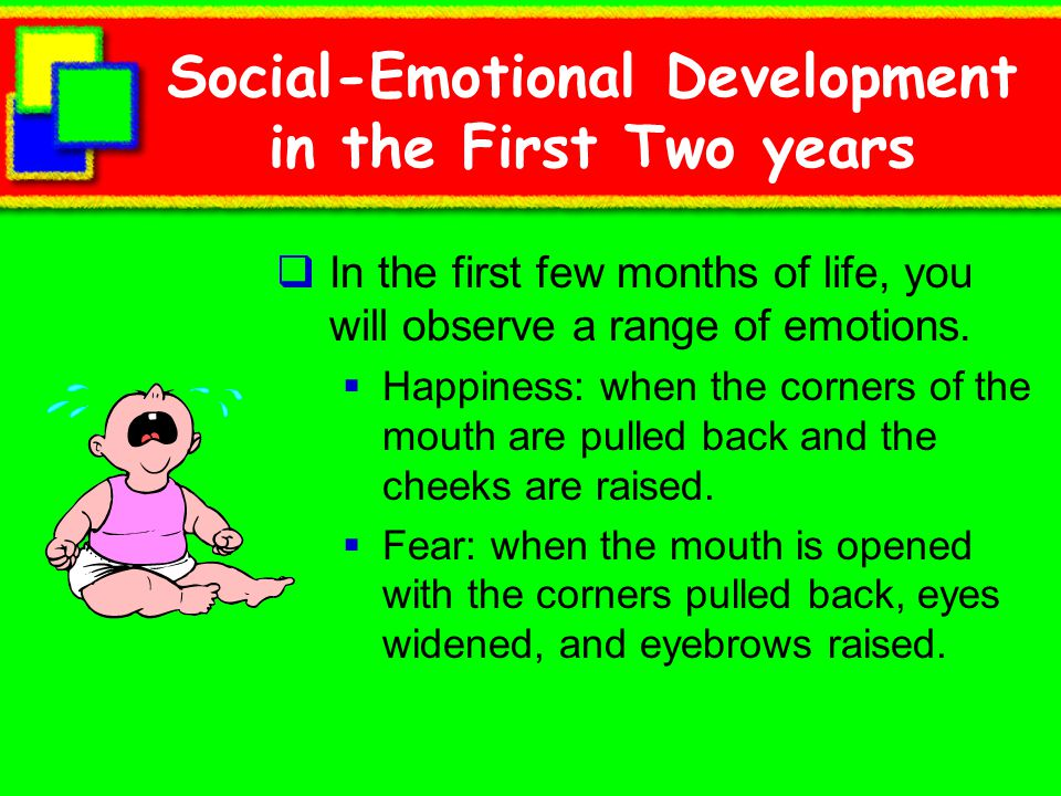 Social-Emotional Development in the First Two years
