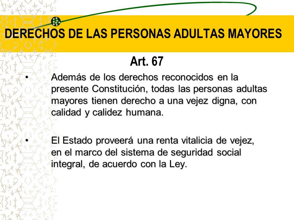 DERECHOS DE LAS PERSONAS ADULTAS MAYORES