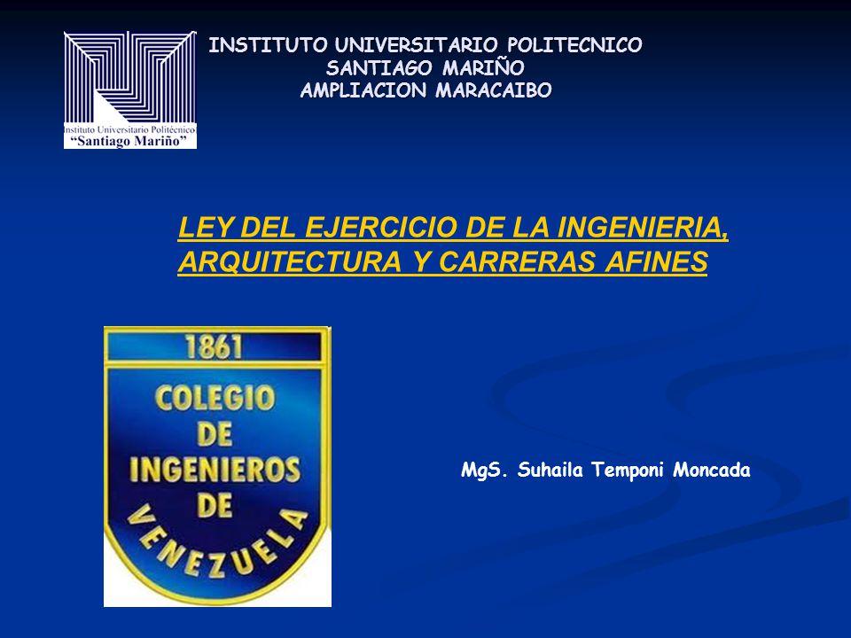 Ley Del Ejercicio De La Ingenieria Arquitectura Y