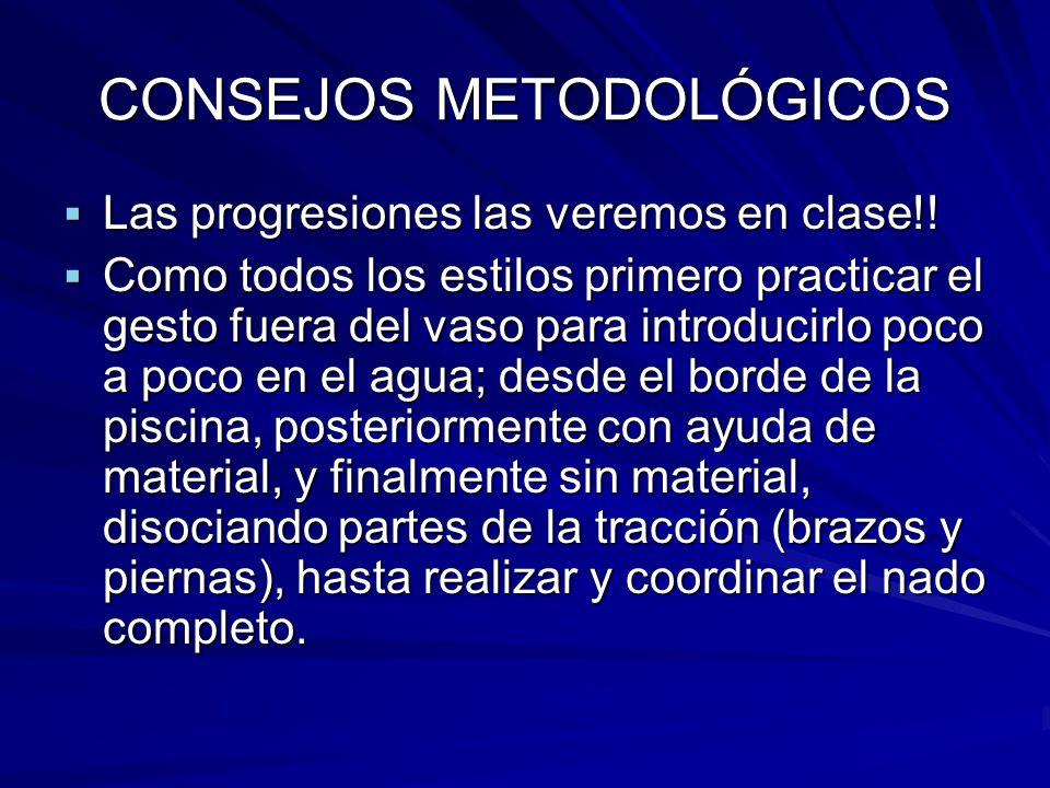 CONSEJOS METODOLÓGICOS