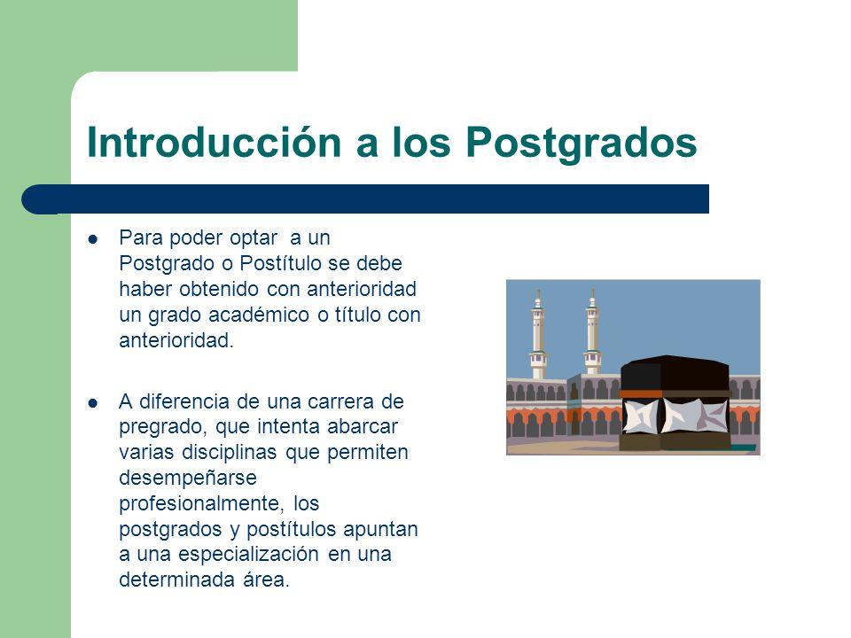 Introducción a los Postgrados