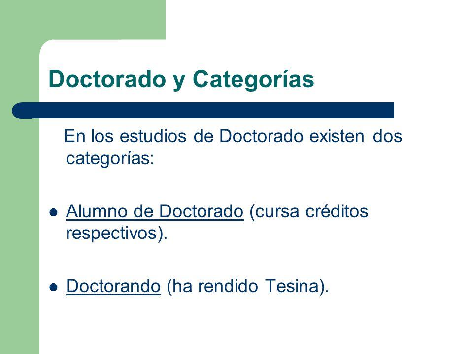 Doctorado y Categorías