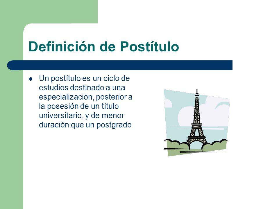 Definición de Postítulo