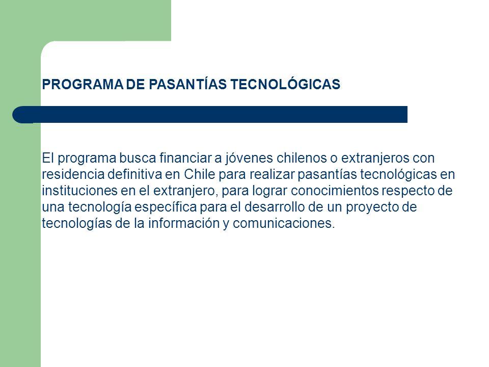 PROGRAMA DE PASANTÍAS TECNOLÓGICAS