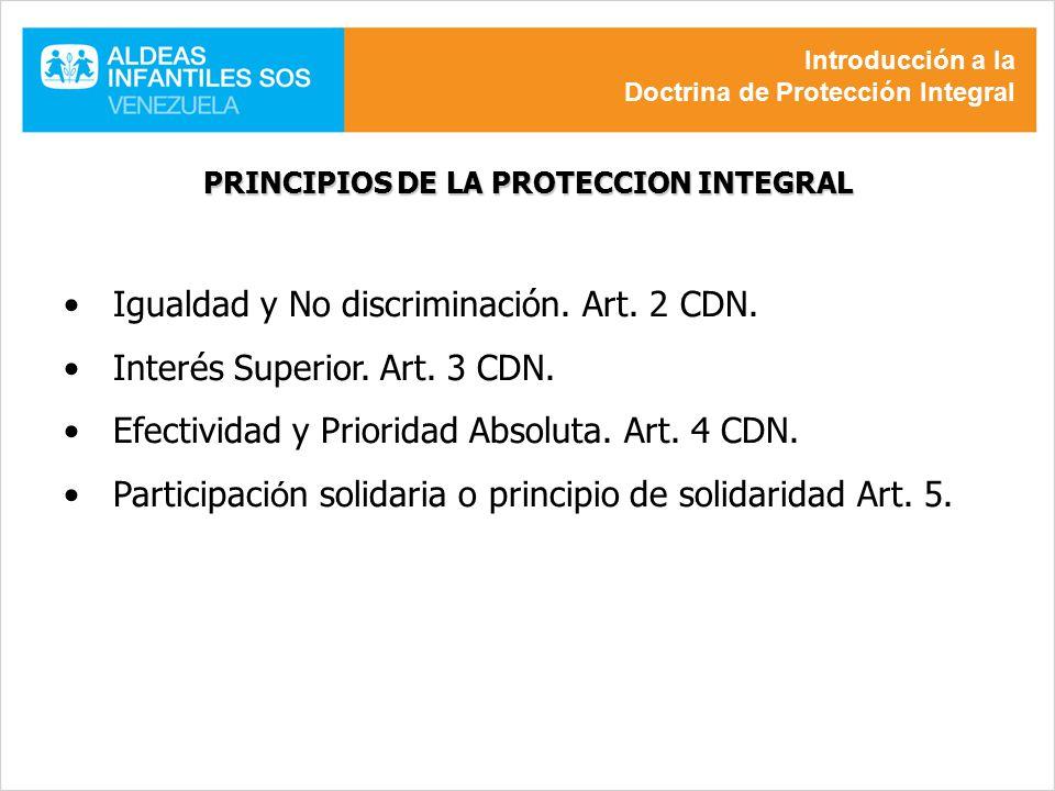 PRINCIPIOS DE LA PROTECCION INTEGRAL