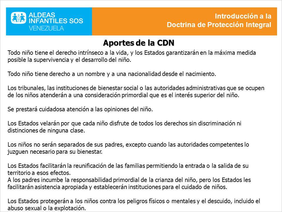 Aportes de la CDN Introducción a la Doctrina de Protección Integral