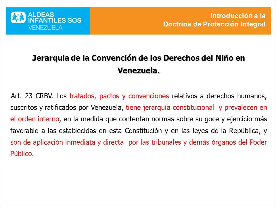 Jerarquía de la Convención de los Derechos del Niño en Venezuela.