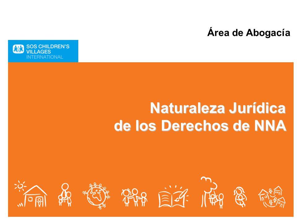 Área de Abogacía Naturaleza Jurídica de los Derechos de NNA