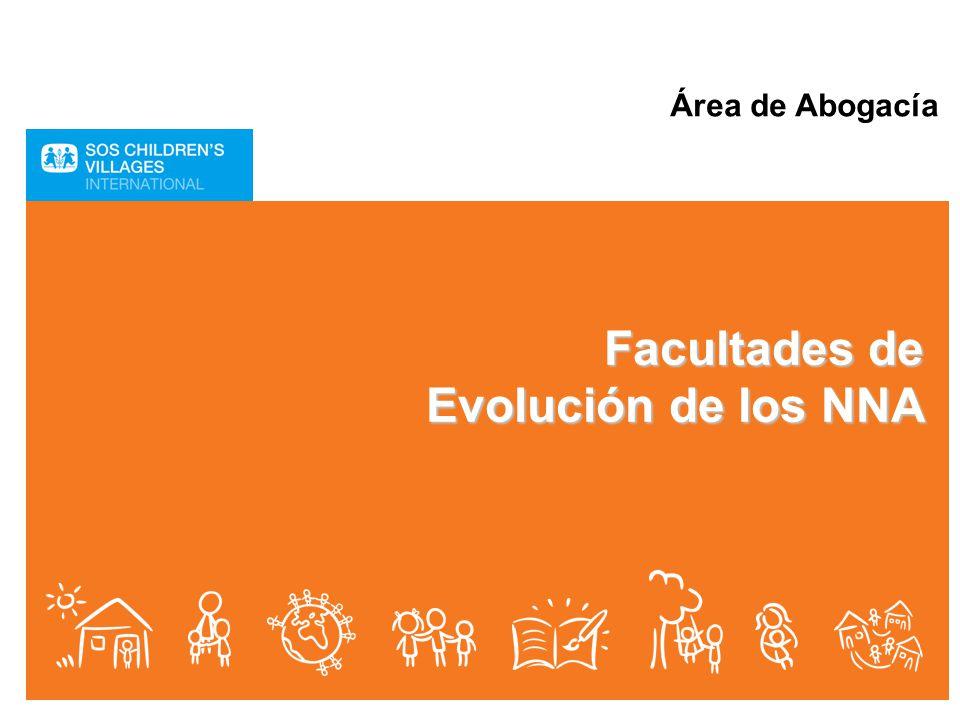 Área de Abogacía Facultades de Evolución de los NNA