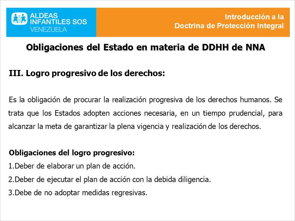 Obligaciones del Estado en materia de DDHH de NNA