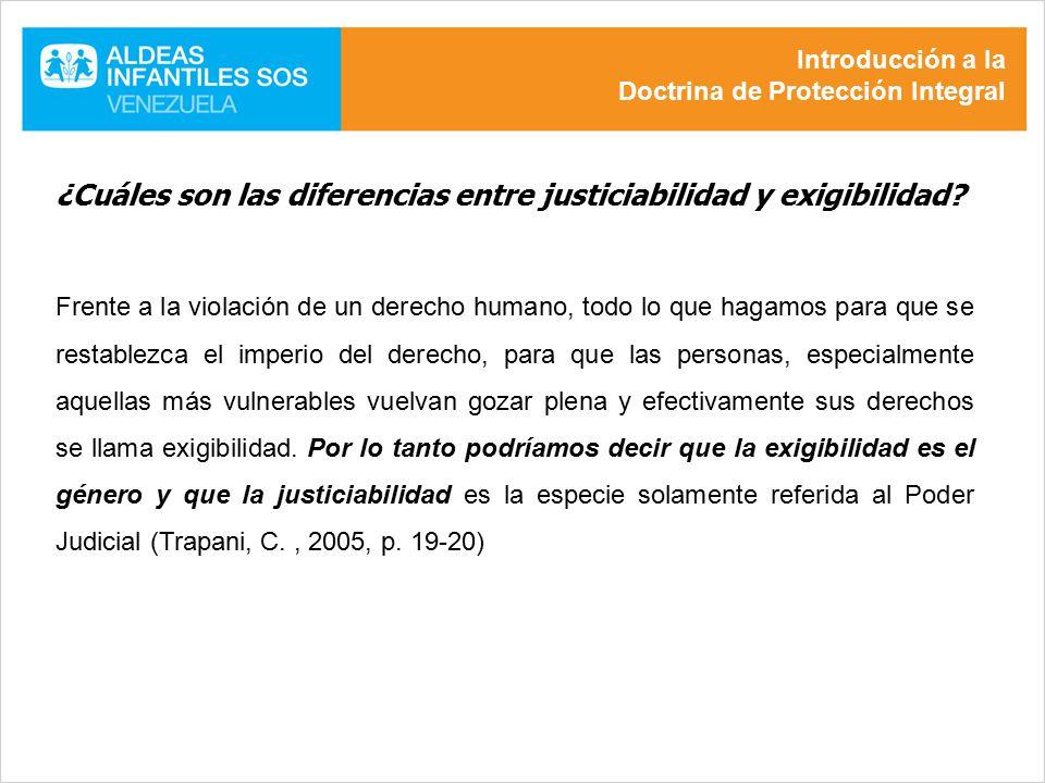 ¿Cuáles son las diferencias entre justiciabilidad y exigibilidad