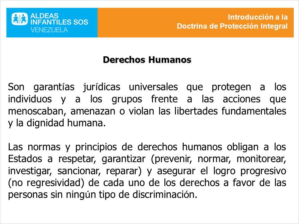 Introducción a la Doctrina de Protección Integral. Derechos Humanos.