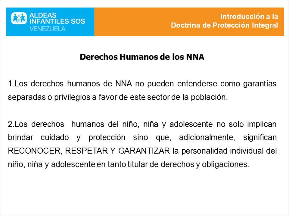 Derechos Humanos de los NNA