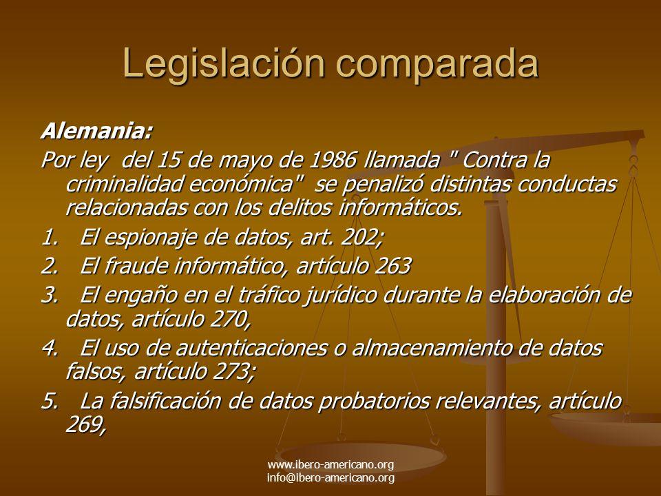 Legislación comparada