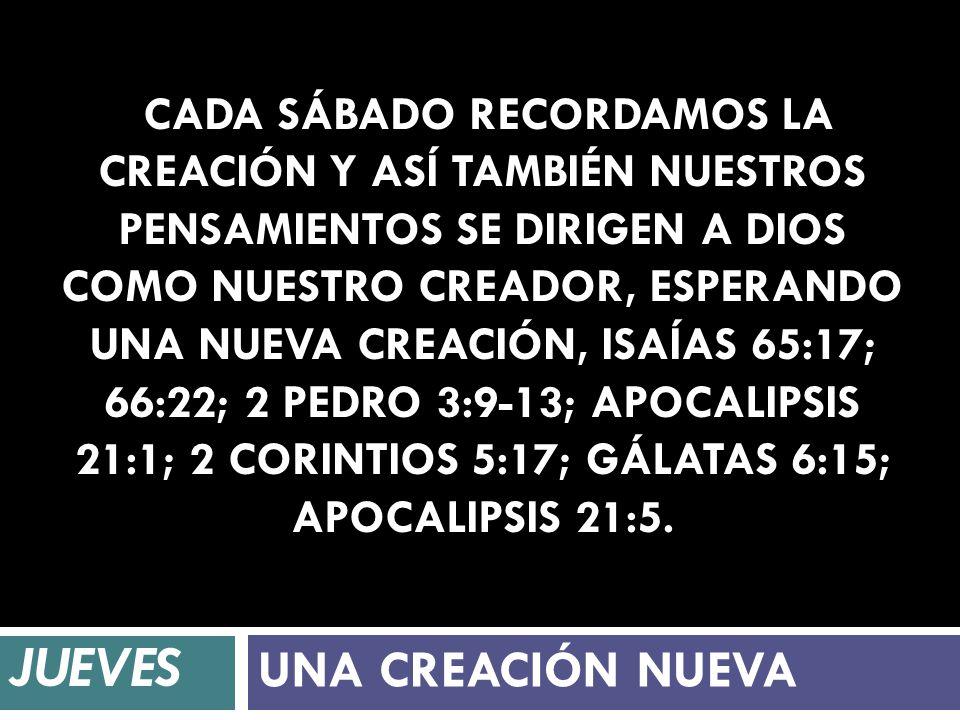 JUEVES UNA CREACIÓN NUEVA