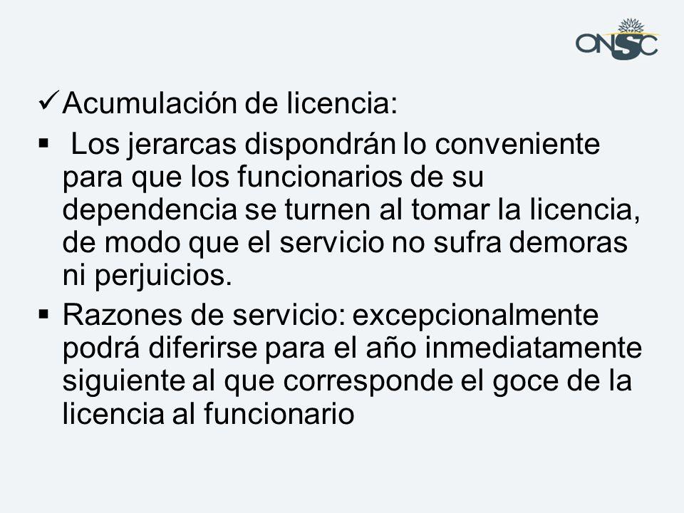 Acumulación de licencia:
