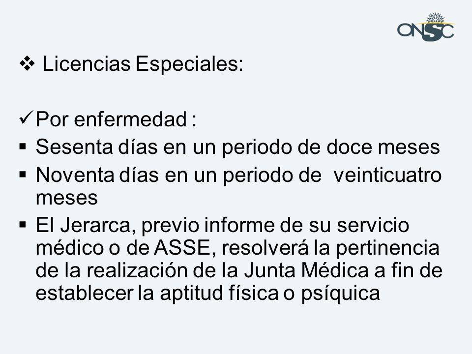 Licencias Especiales: