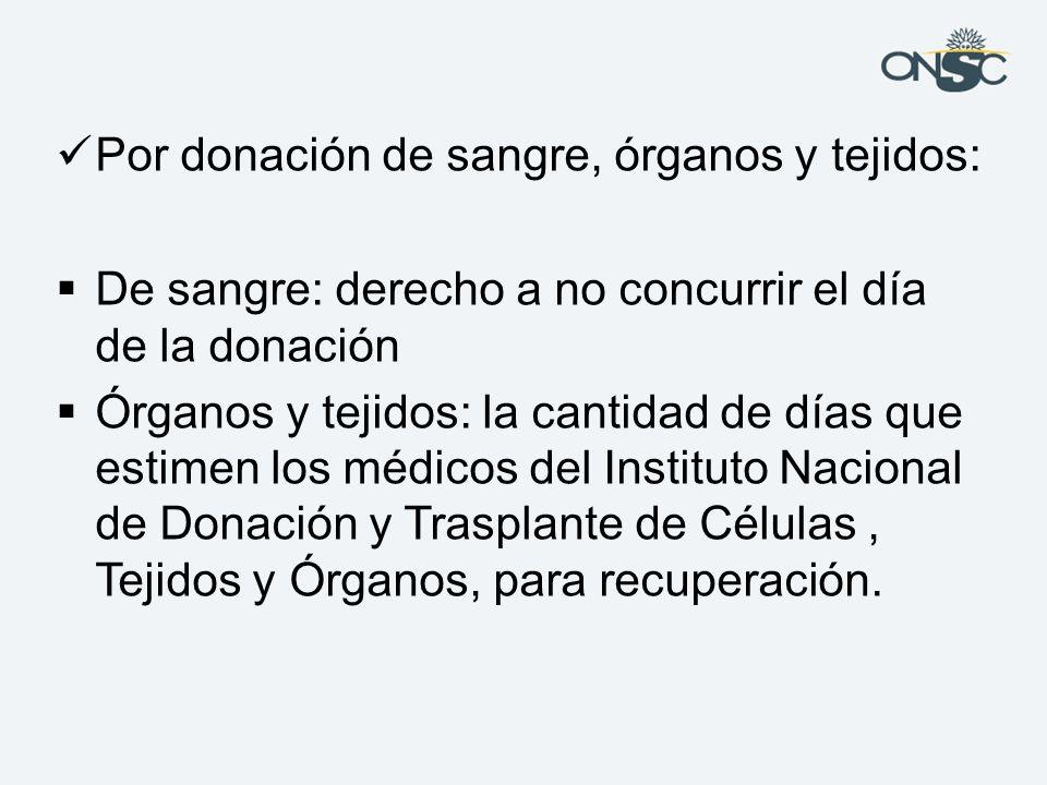 Por donación de sangre, órganos y tejidos:
