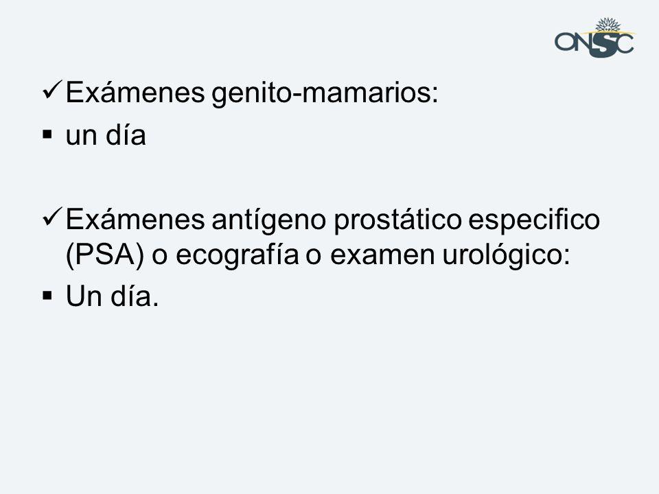 Exámenes genito-mamarios: