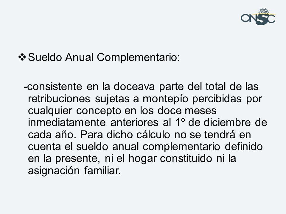 Sueldo Anual Complementario: