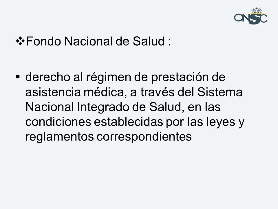 Fondo Nacional de Salud :