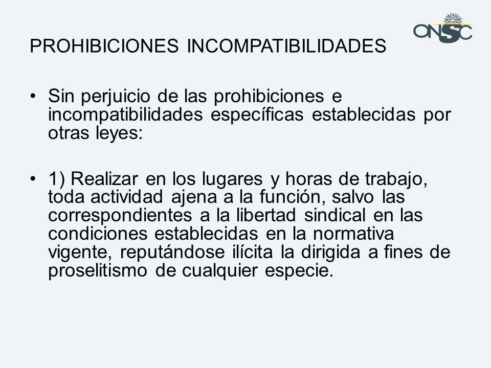 PROHIBICIONES INCOMPATIBILIDADES