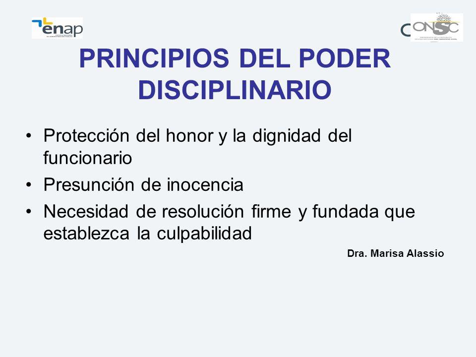 PRINCIPIOS DEL PODER DISCIPLINARIO