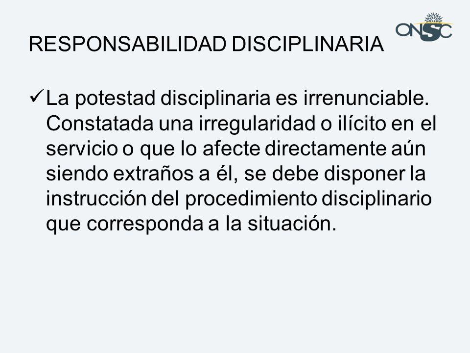 RESPONSABILIDAD DISCIPLINARIA