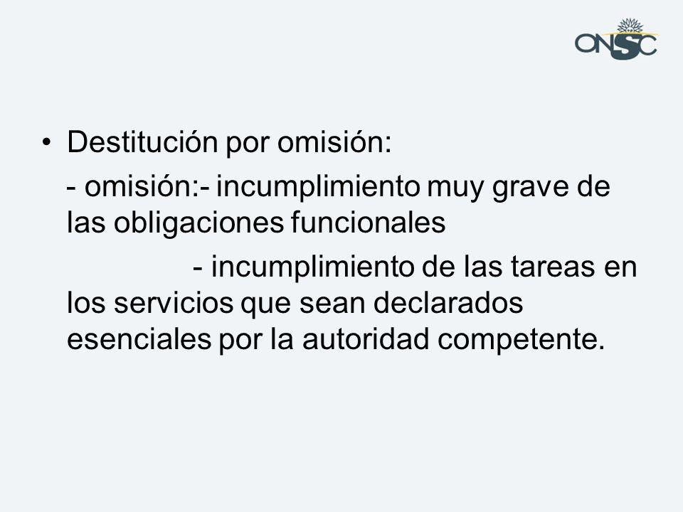 Destitución por omisión: