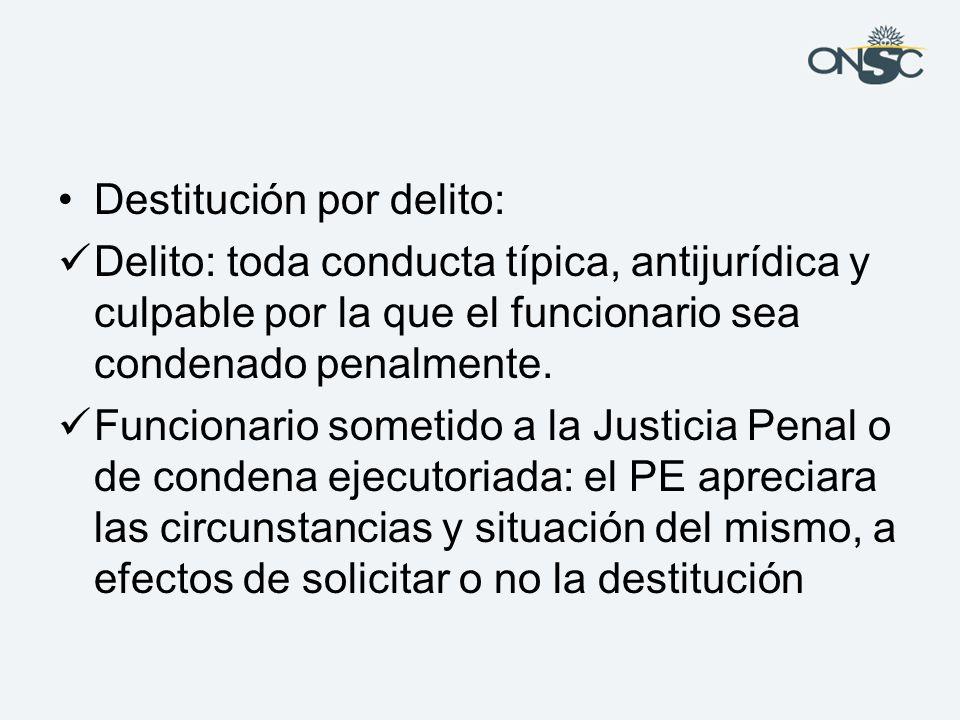 Destitución por delito: