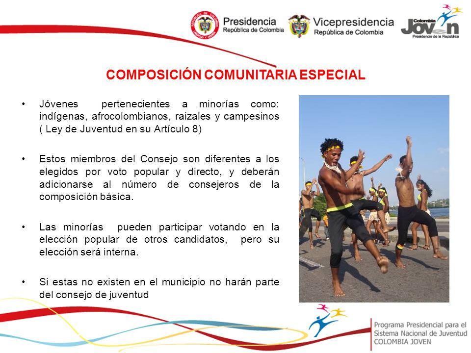 COMPOSICIÓN COMUNITARIA ESPECIAL